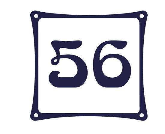Huisnummerbordjes Emaille-look