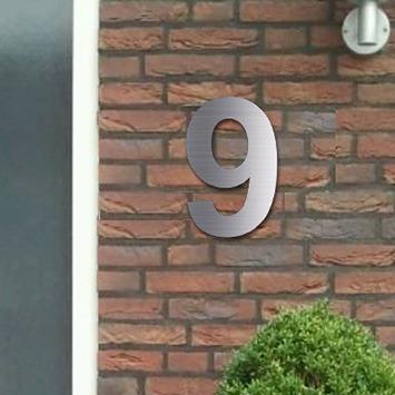 Huisnummers RVS Look