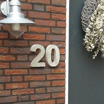 Huisnummers Beton 3D