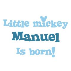 Geboortesticker Little Mickey | Babynaam jongen